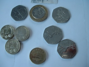 Coins recovered from change - Saturday January 12th 2013