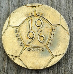 The iconic Euro '96 £2 coin was minted in the shape of a football